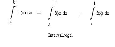 Intervallregel Integration